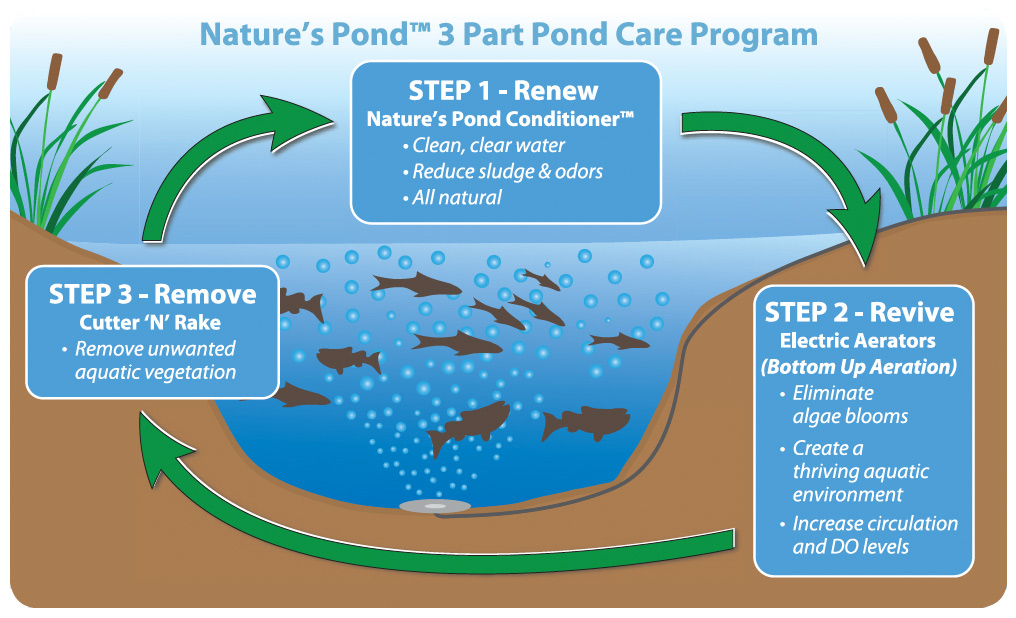 Nature's Pond 3 Part Pond Care Program